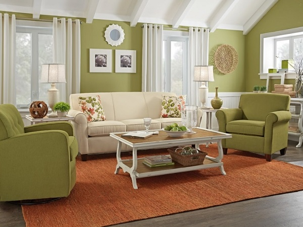 Green living room interior design ideas by interiorideas