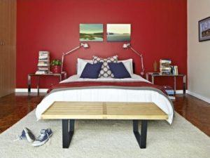 Red bedroom interior designs