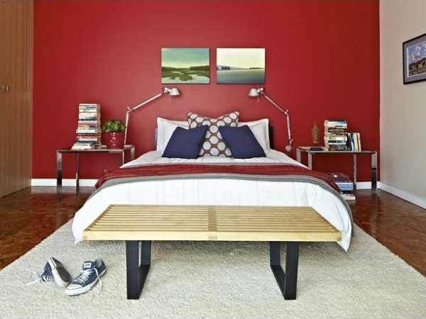 Red bedroom interior designs