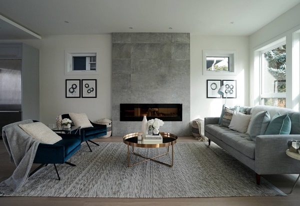 Grey living room interior design ideas