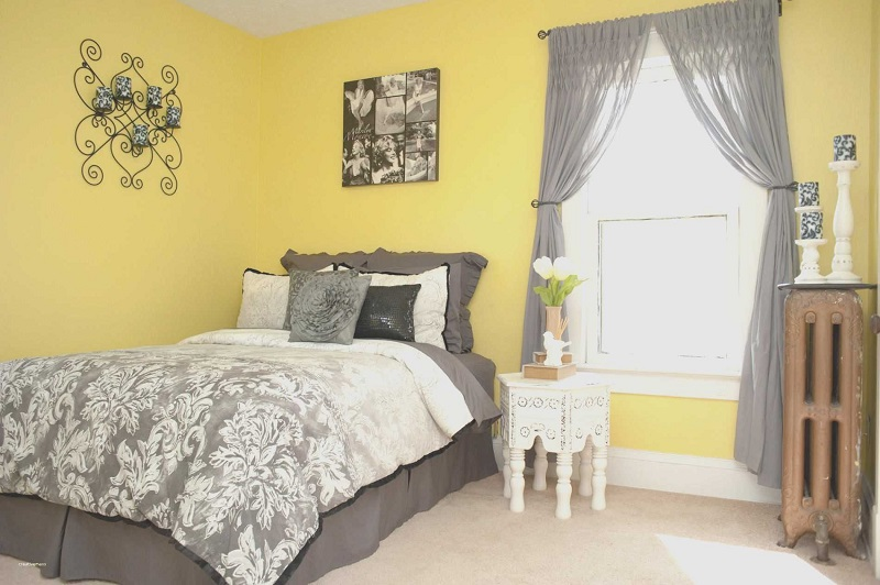 Small bedroom ideas for yellow color theme