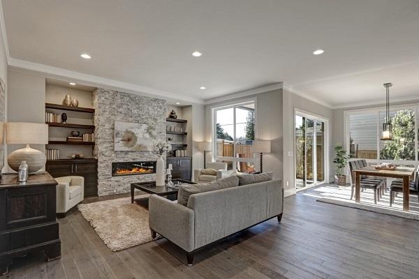 Living room design with sofa furniture