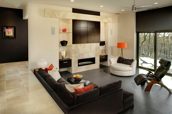 Black Living Room Design