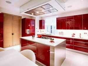 Red kitchen photo