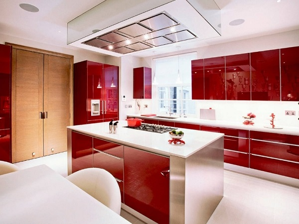 Red kitchen photo