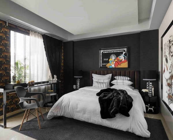 Black bedroom design