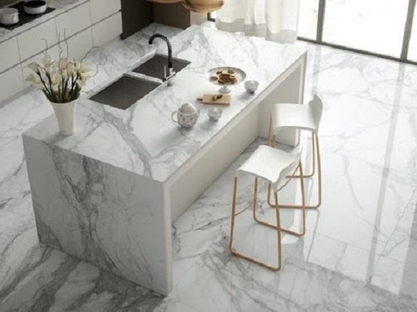 White marble design